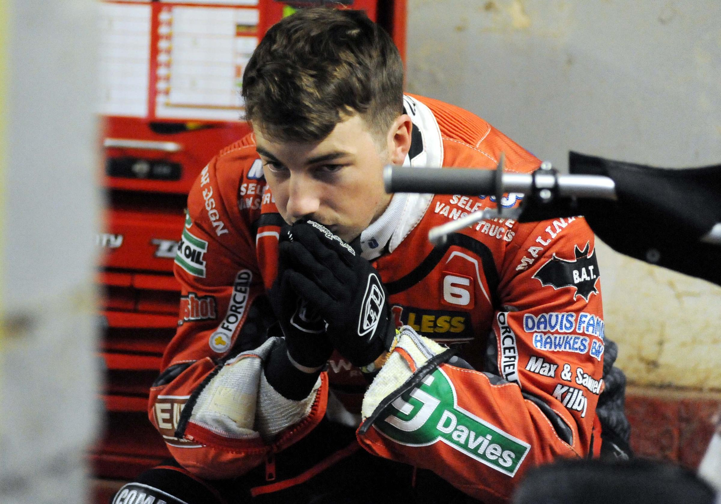 Bradley Wilson-Dean sums up the mood in the Swindon Robins camp on Monday night