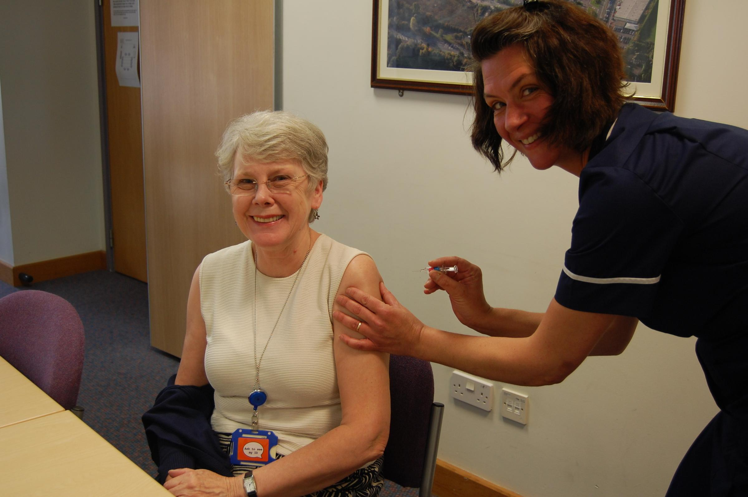 Staff at GWH have recieved their flu vaccinations. Picture: GWH