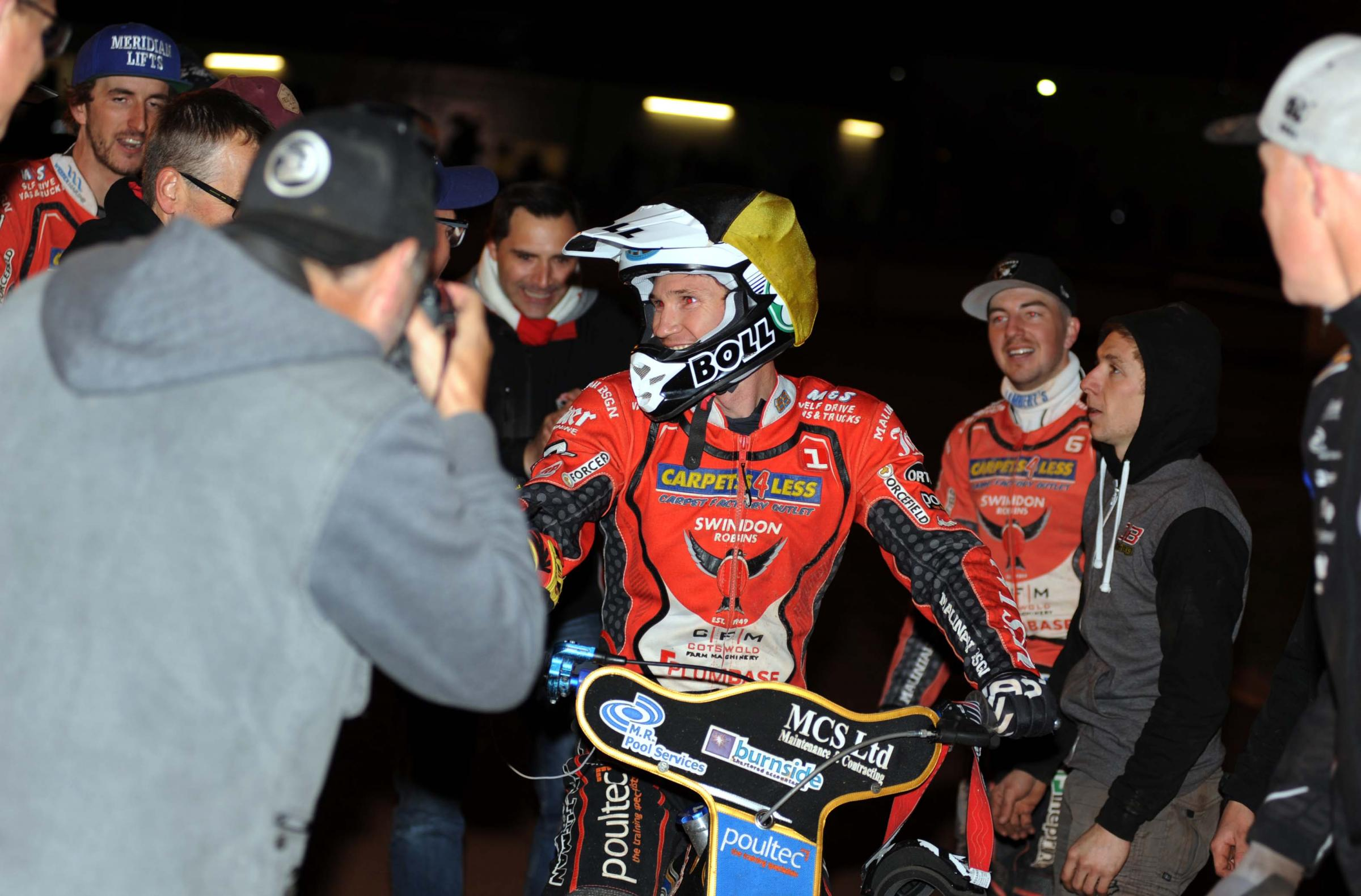 Jason Doyle returns to the pits at Monmore Green after helping to deliver the SGB Premiership crown