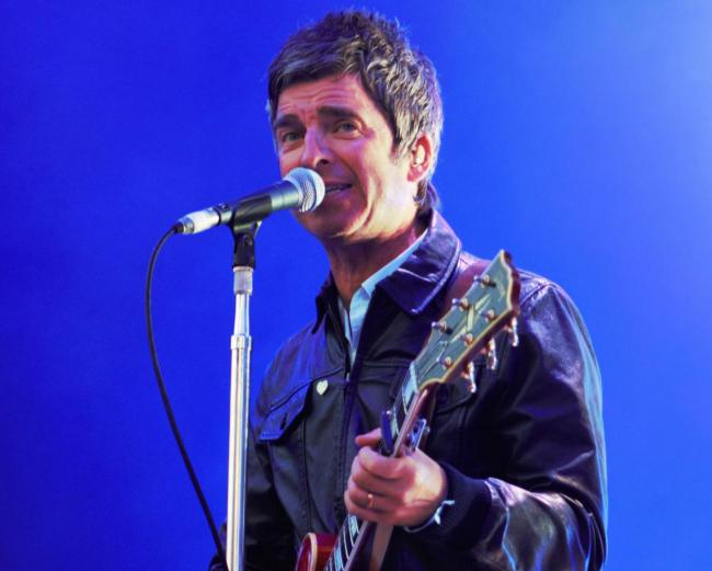 Noel Gallagher on stage last year - a lookalike has been seen in Swindon 'licking windows'. Picture by Sarah Smith