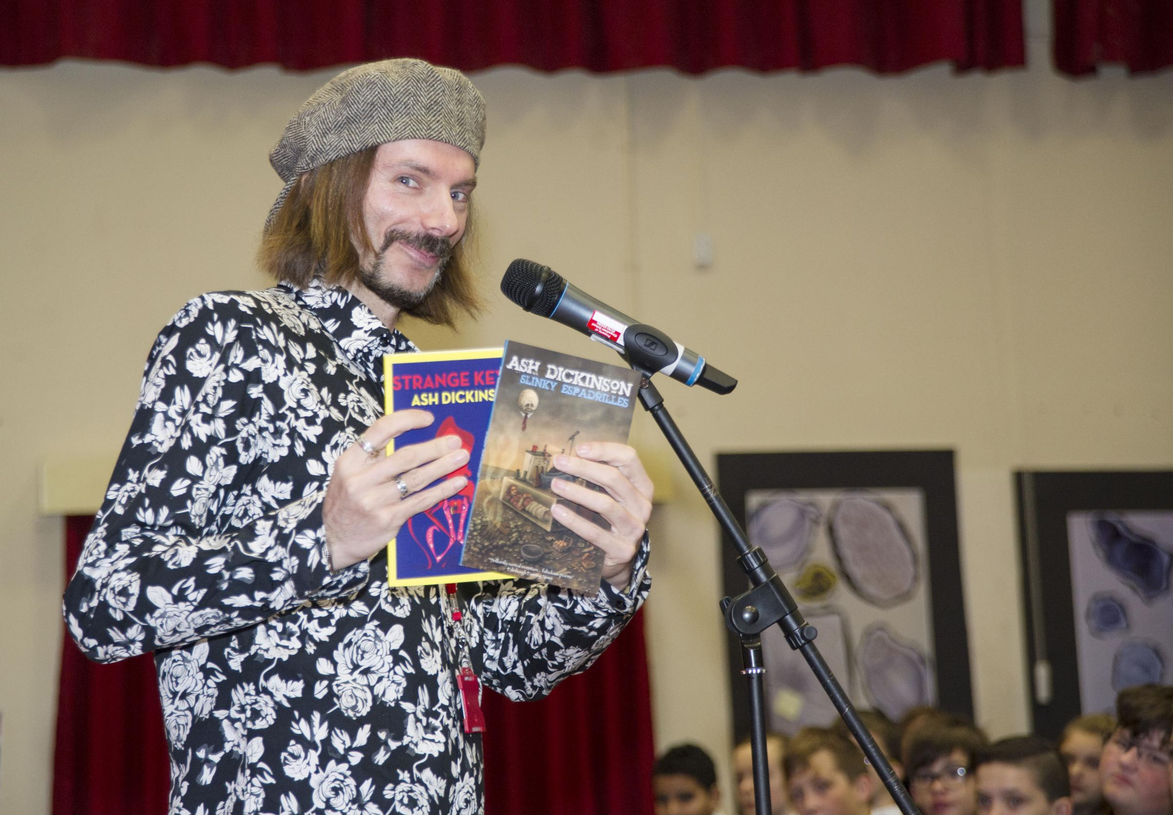 Swondon Youth festival of literature at Kingsdown school with Ash Dickinson. Pic - Ash Dickinson Date 10/11/17 Pic by Dave Cox