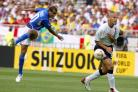 England defender Rio Ferdinand challenges Rivaldo of Brazil during their World Cup quarter- final match in 2002 (Owen Humphreys/PA)