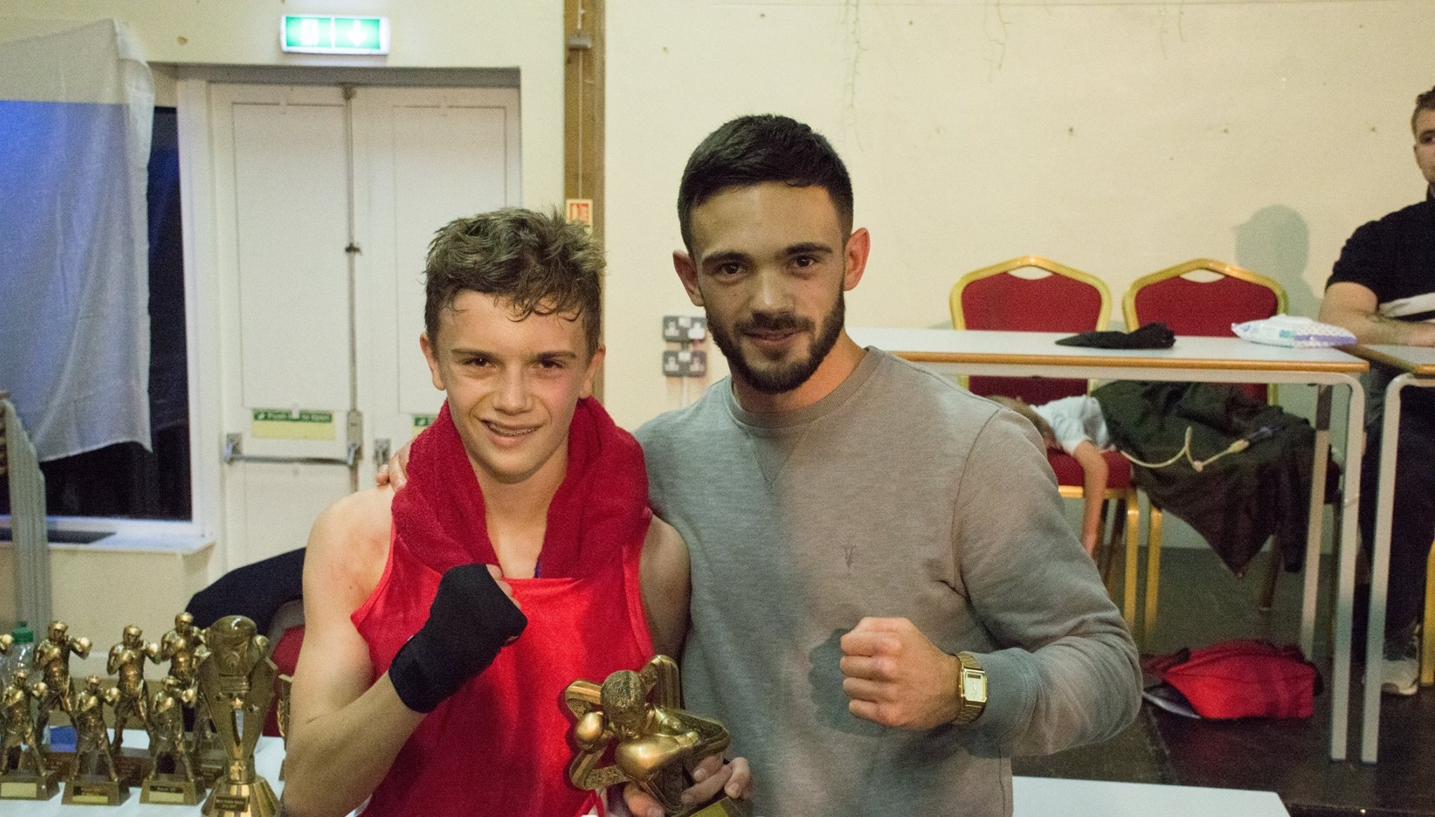Ryan Martin (right) with Alex Masters Pictures: Callum Knowles