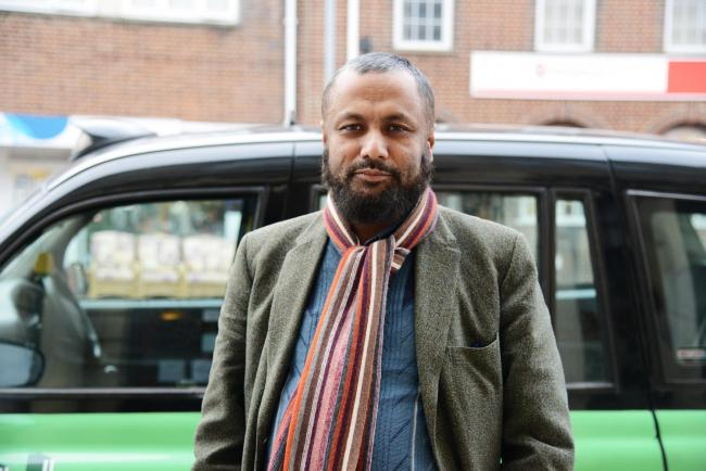 Cab driver Moskiqur Rahman who was given a conditional discharge in court after admitting false imprisonment during a fare dispute. Picture by Thomas Kelsey
