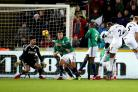 Wilfried Bony fires the winner for Swansea against West Brom (Nick Potts/PA)