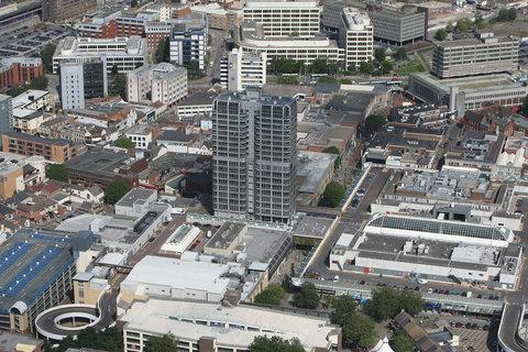 Aerial pictures of Swindon Town Centre in 2012. Picture: Stuart Harrison