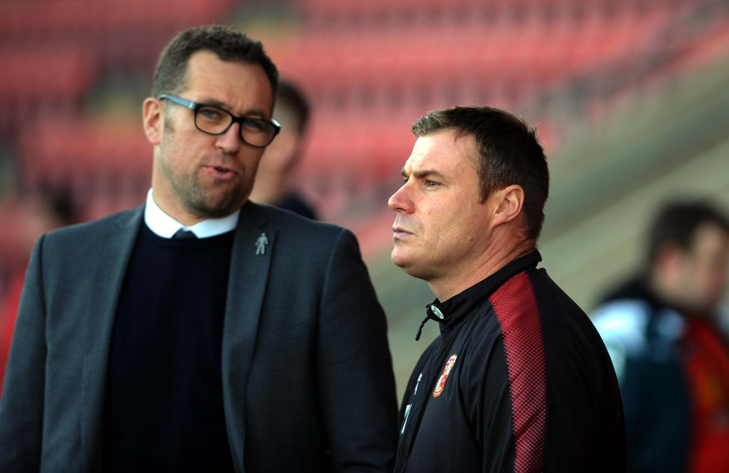 David Flitcroft, pictured at Crewe on Saturday (Picture: DAVE EVANS)
