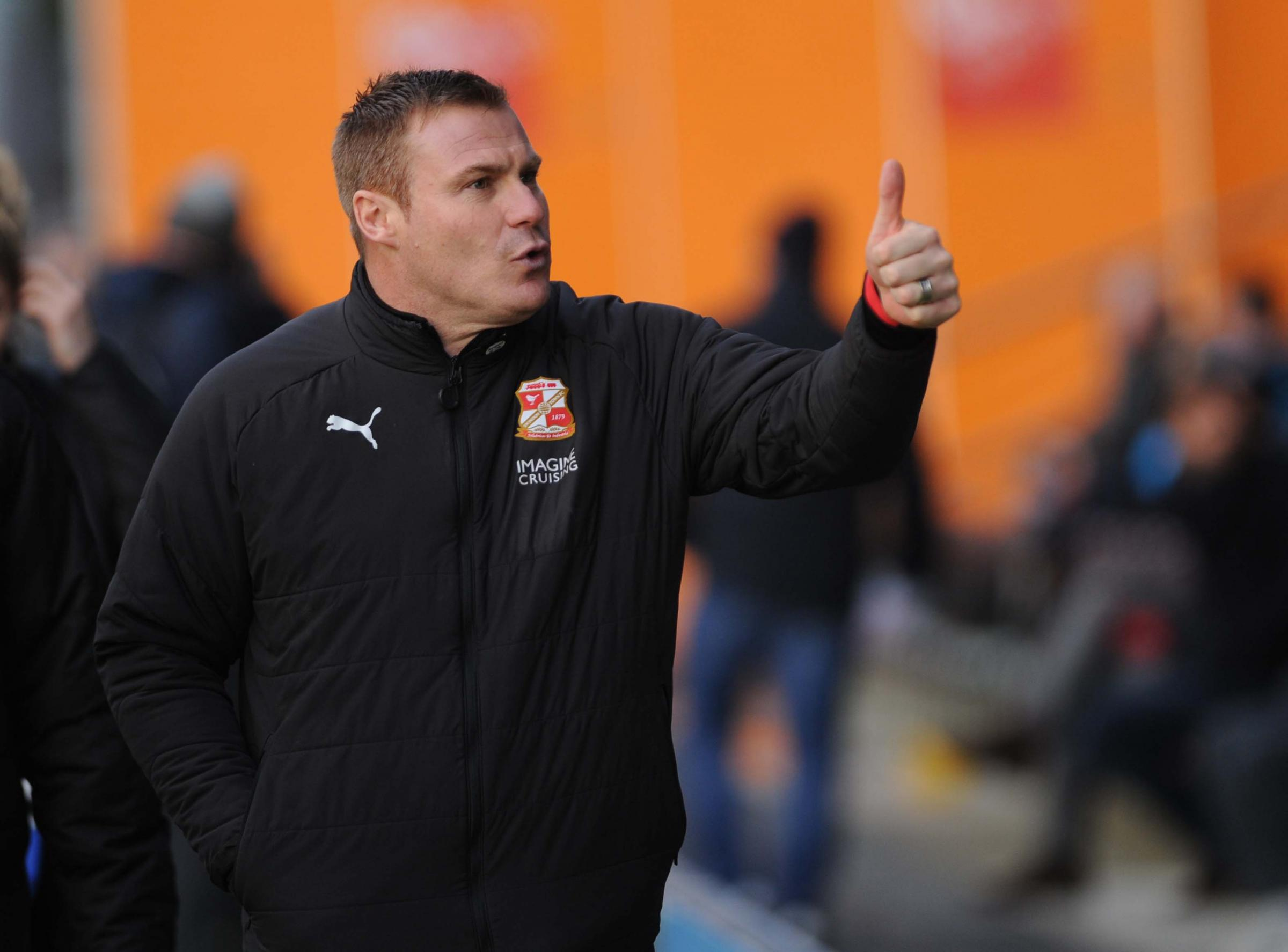 Swindon Town boss David Flitcroft