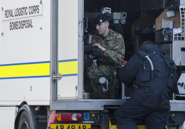 The bomb squad was called to Spode Close in the early hours Picture: DAVE COX