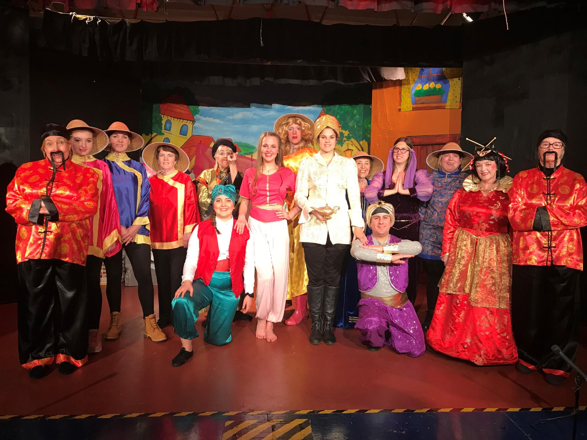 The cast of the Tiverton Players performance of Aladdin