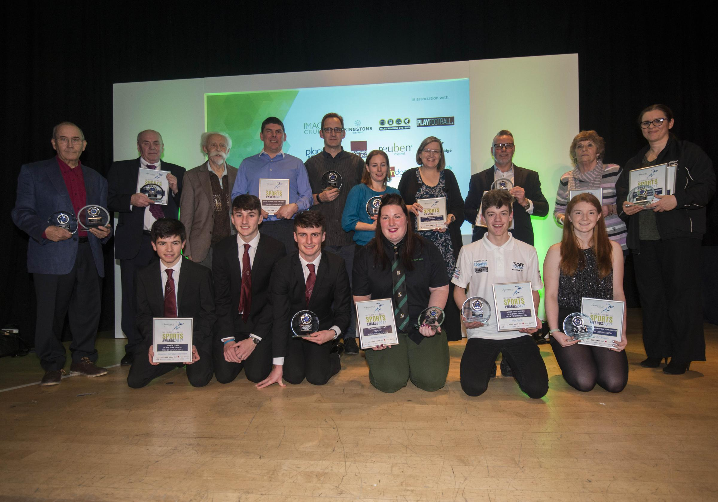 Wiltshire Sports Awards winners at last night's ceremony at Devizes' Corn Exchange Picture: Clare Green (www.claregreenphotography.com)