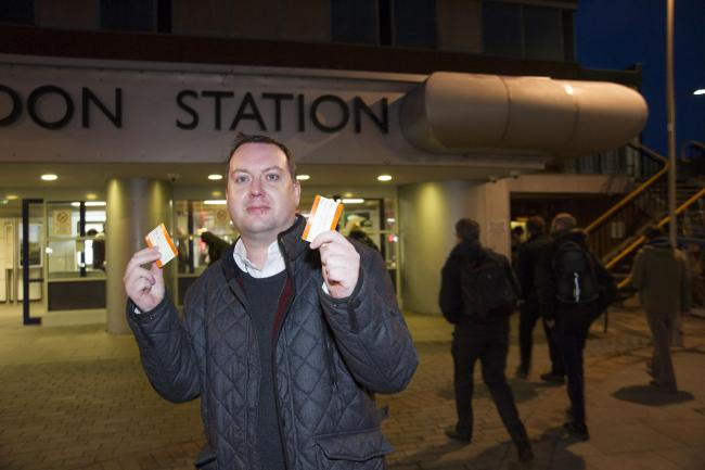 Councillor Dale Heenan is leading the charge against high rail fares. Picture by Dave Cox