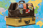 Swindon Advertiser: Suitcases with Map