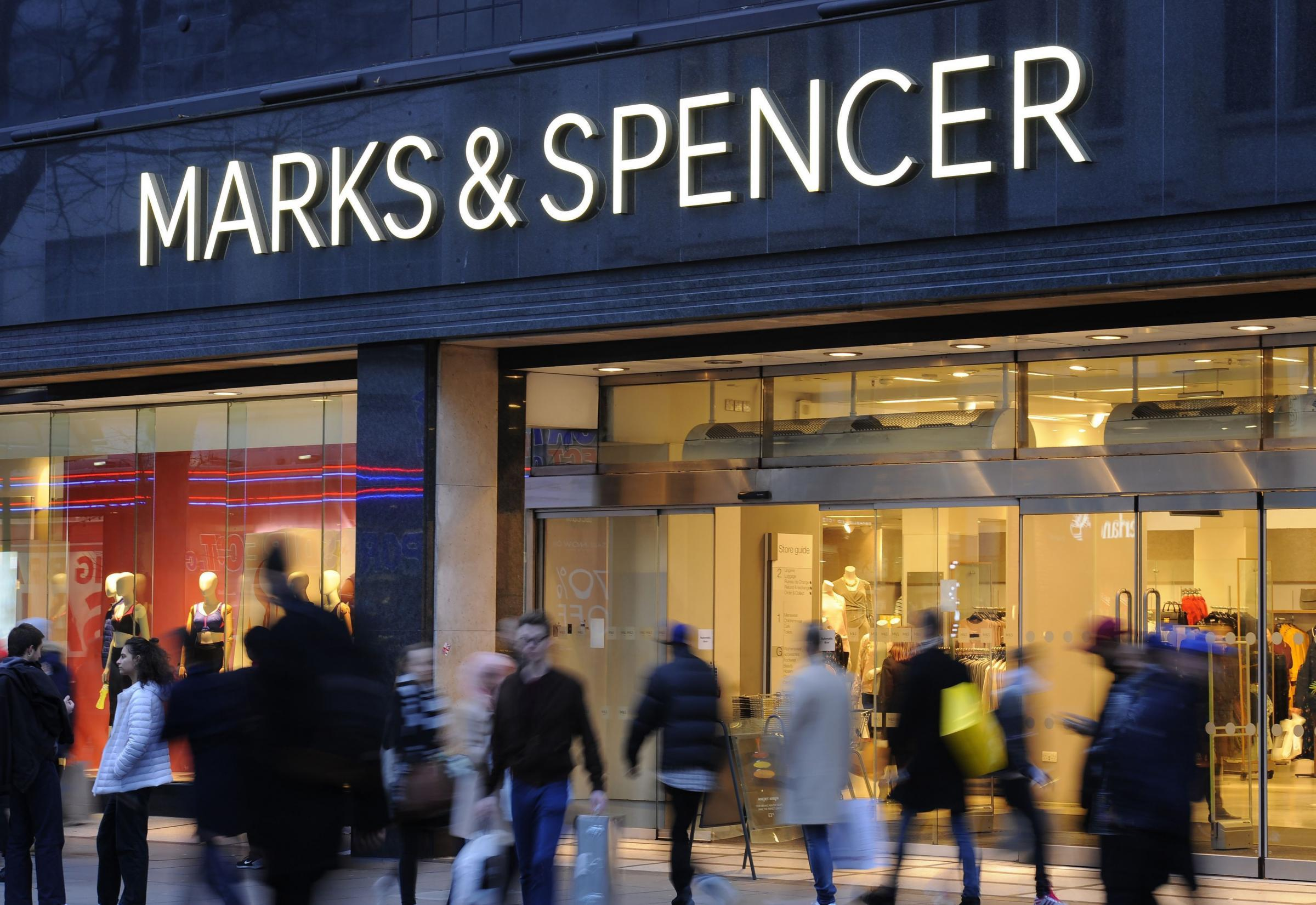File photo dated 11/01/2017 of Marks and Spencer on Oxford Street in London. Marks & Spencer has announced plans to close another eight stores in a move impacting 468 jobs. PRESS ASSOCIATION Photo. Issue date: Wednesday January 31, 2018. See PA story CITY