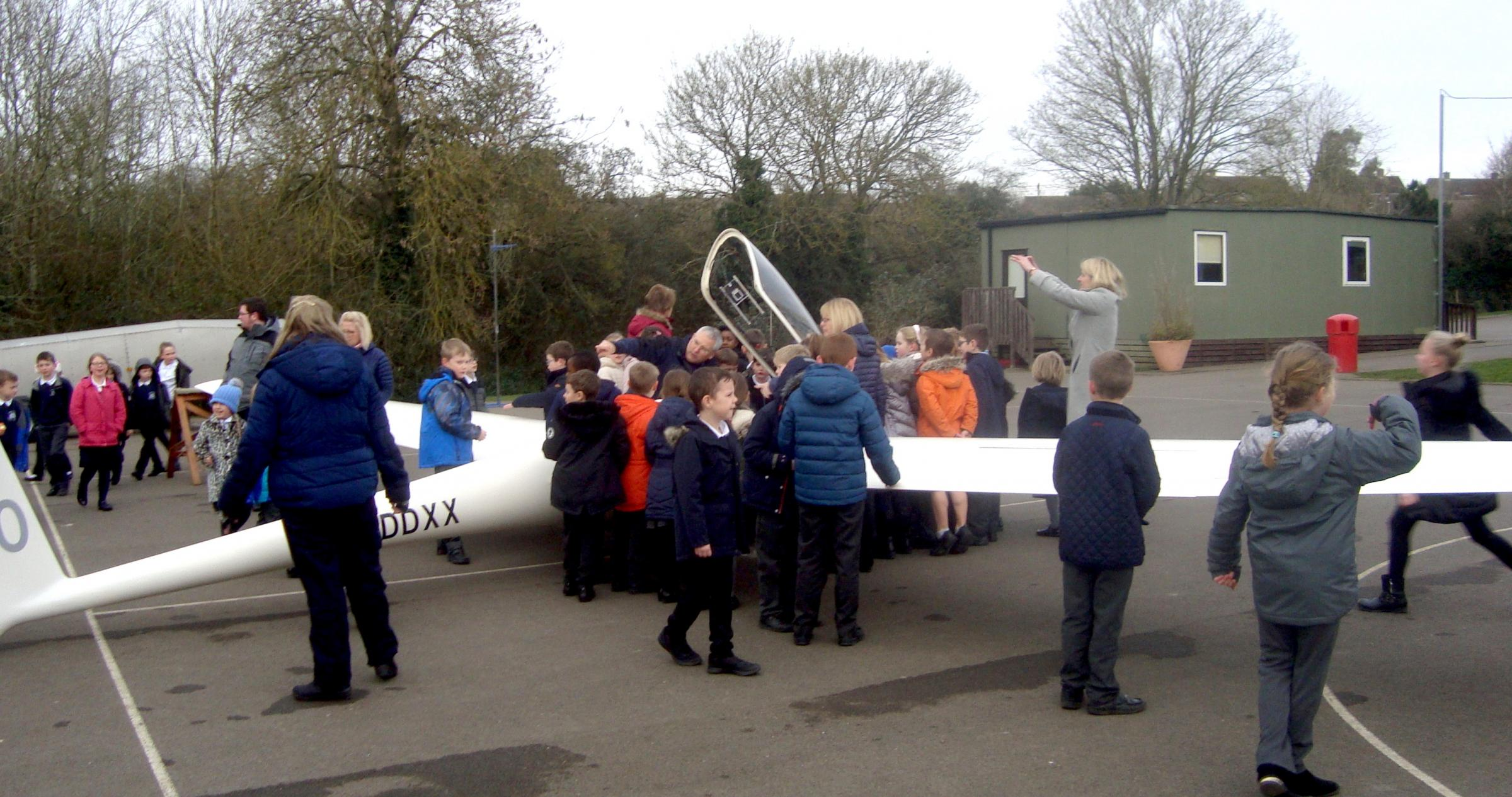 Glider at Noremarsh School, Royal Wootton Bassett.