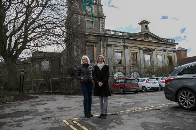 Councillors Nadine Watts and Jane Milner-Barry on site