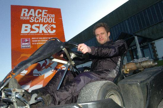 Will Tew, shown at Wroughton Karting Centre, is setting up a schools' karting championship and wants to get more Swindon schools involved