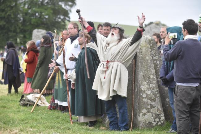 Terry Dobney, Keeper of the Stones, pictured at Avebury. Picture: Diane Vose