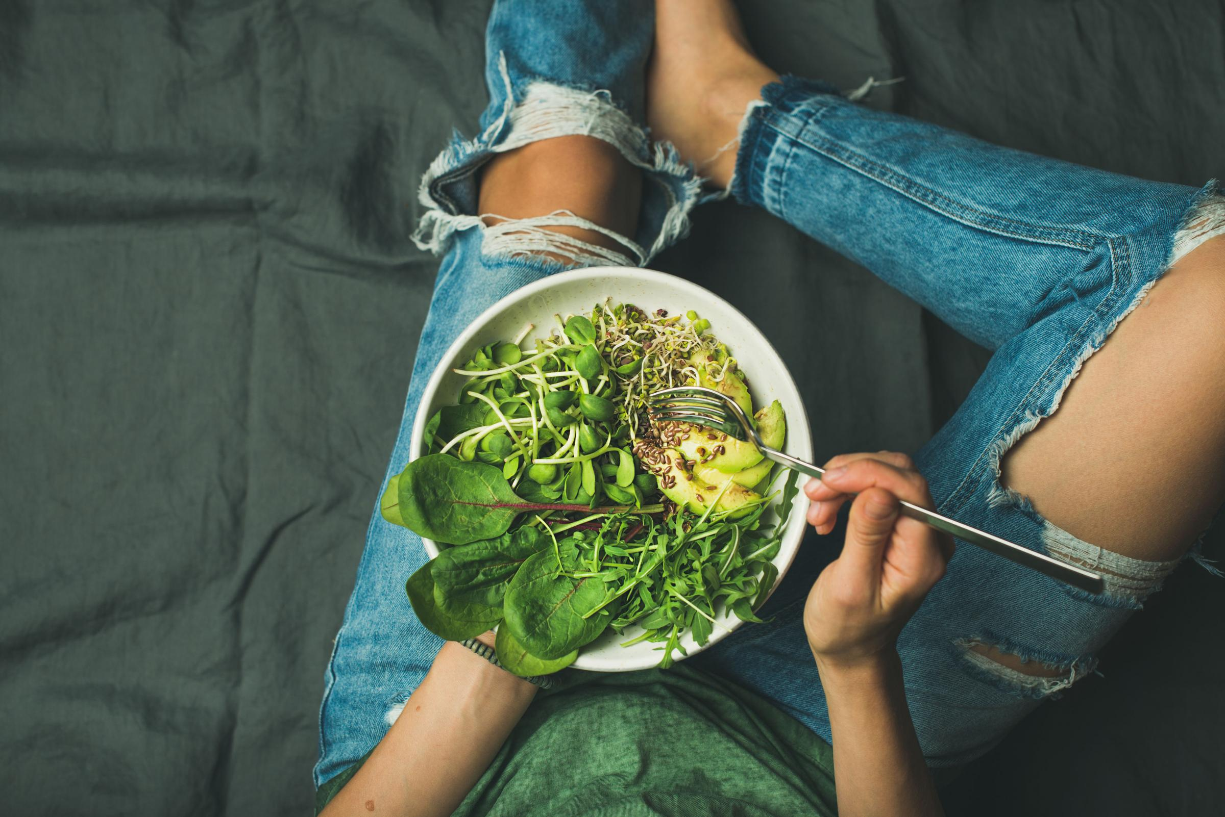 Fasting by eating a bowl of greens. PA Photo/thinkstockphotos.