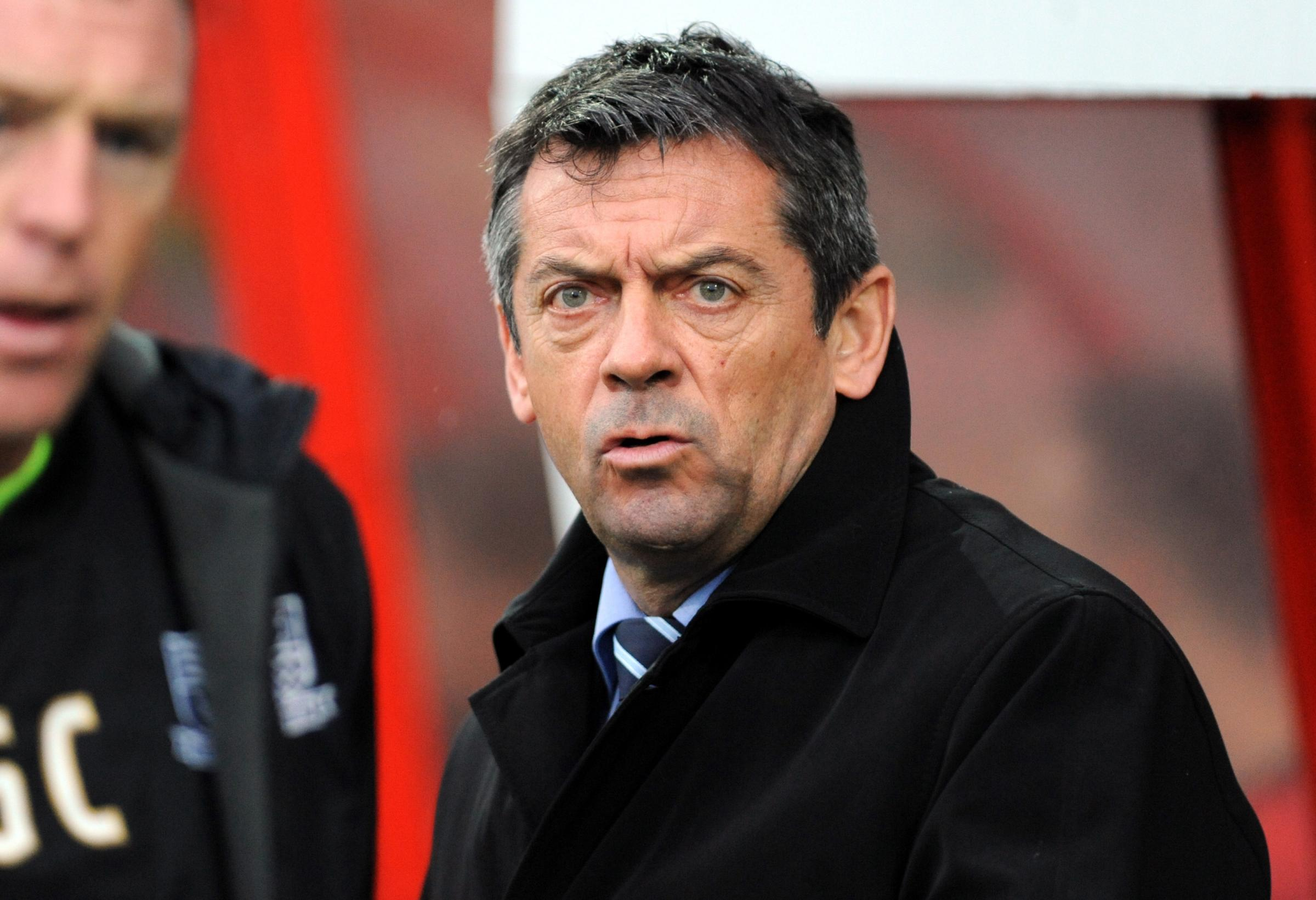 Phil Brown watched Cheltenham's draw with Notts County