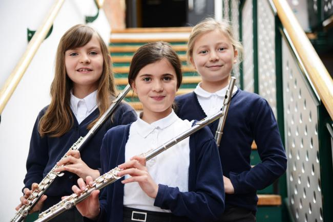 Swindon Music festival at the Arts Centre. Pictured Woodwind up to grade 1. Pictured Imogen, Fran and Olivia..19/03/18 Thomas Kelsey.