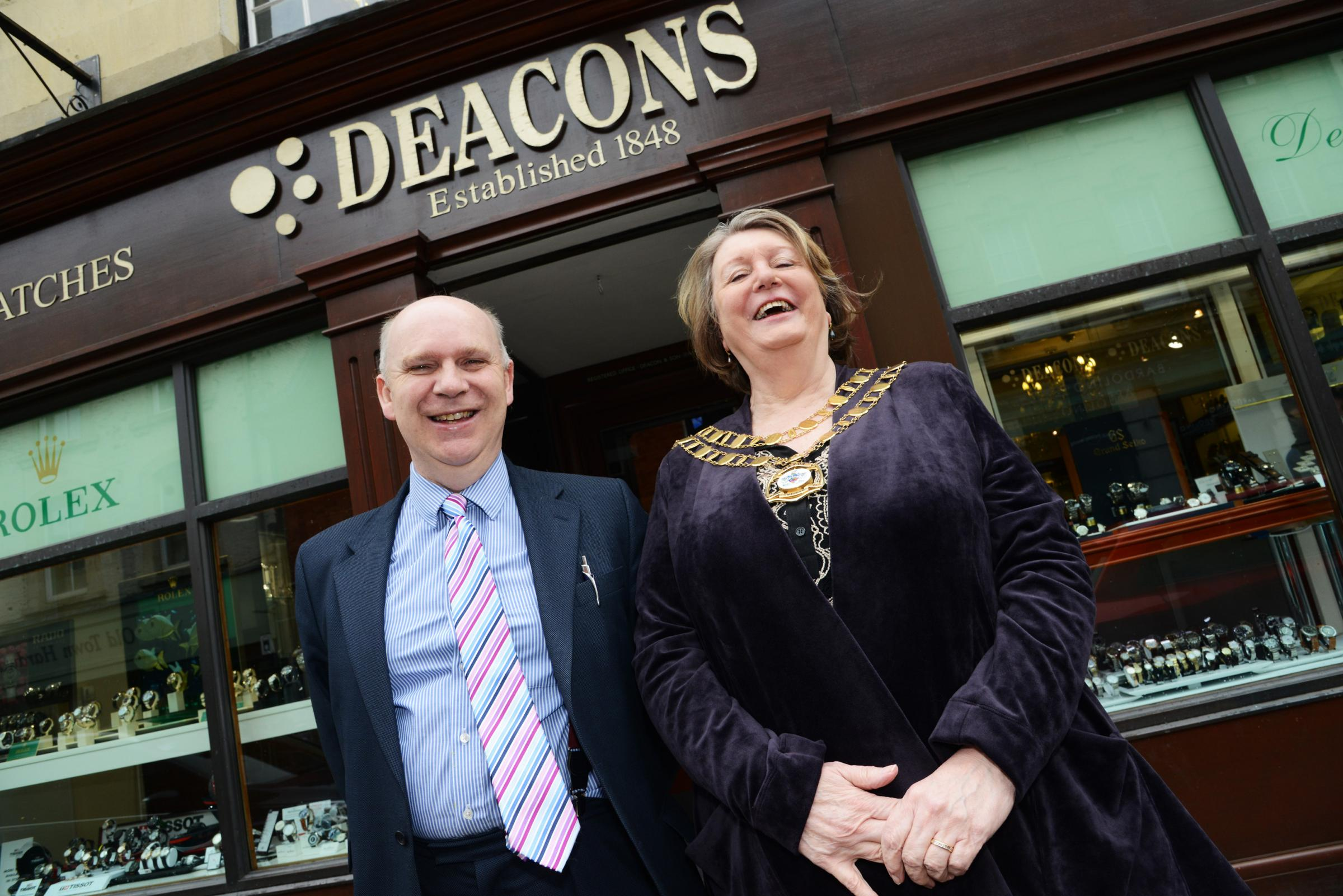 Deacons Jewellers gives mayor behind-the-scenes tour as it