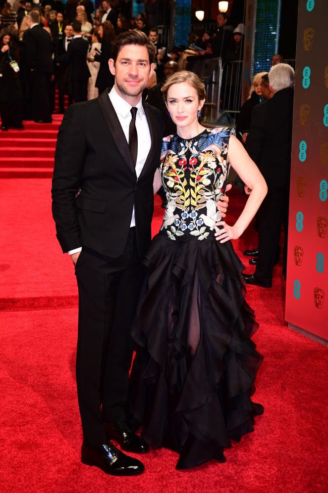 Husband and wife John Krasinski and Emily Blunt