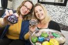 Ceri Tranter and Rachel Mason will be hosting a rock painting event to raise cash for Prospect..left 2 right .Pic - Rachel Mason, Ceri Tranter.Date 27/4/18.Pic by Dave Cox.