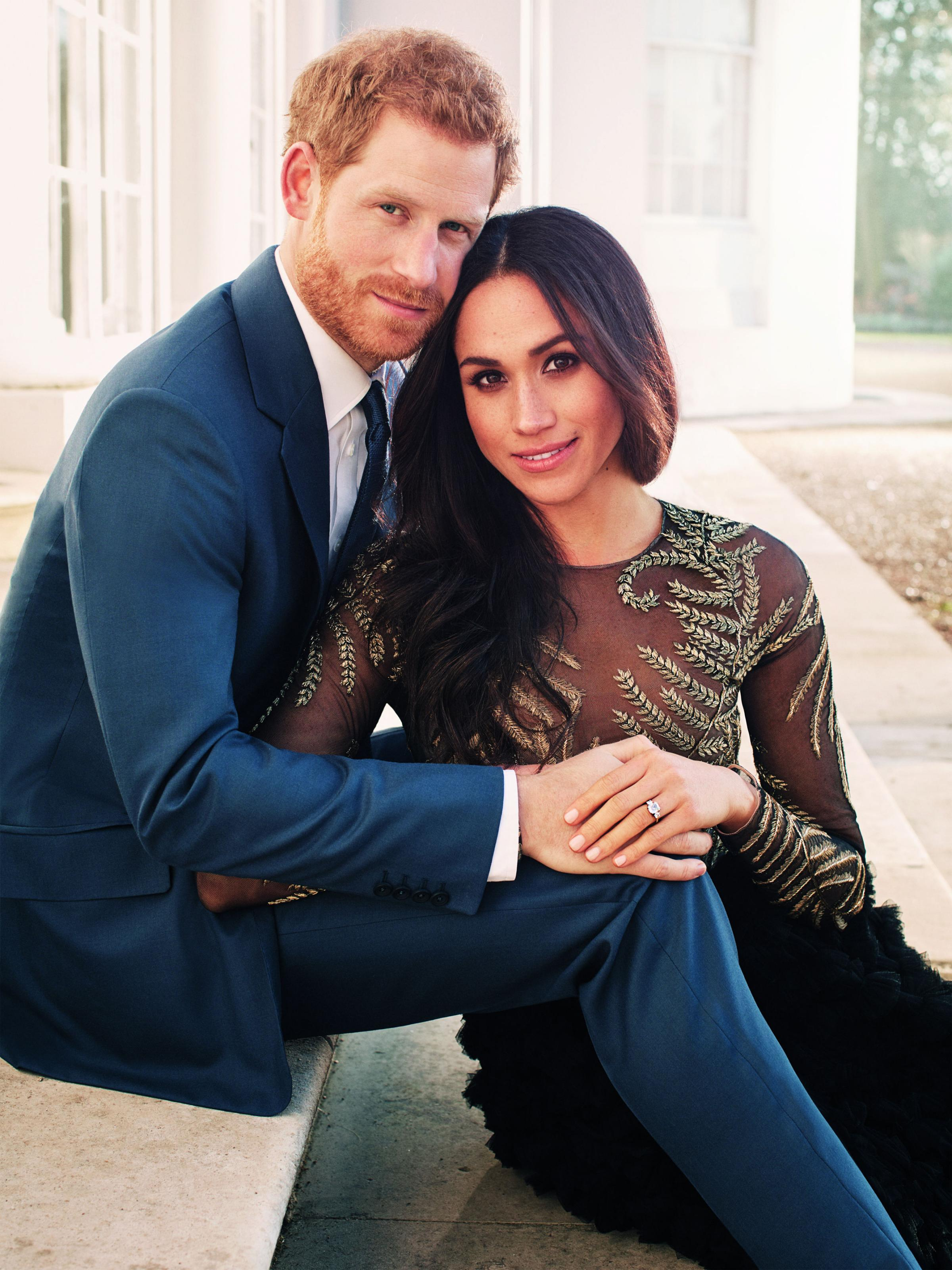 Meghan Markle wore Ralph & Russo in her official engagement photos at Frogmore House, Windsor