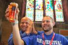 Rev Simon Stevenette and Chris Smith at last year's Old Town Beer Festival. Picture: DAVE COX