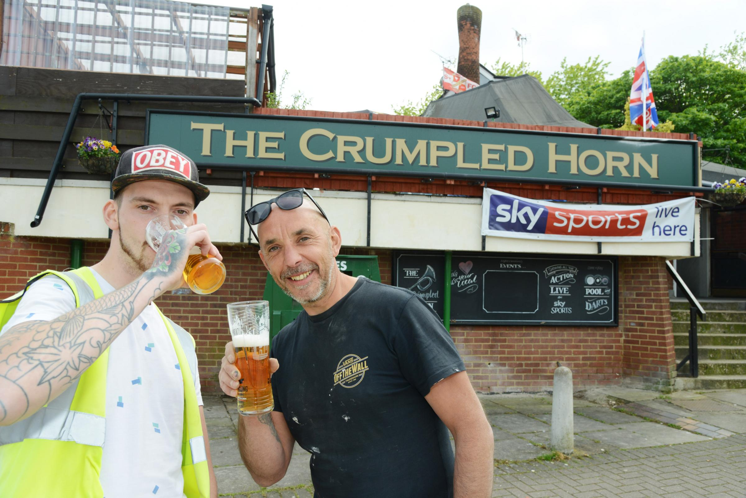 Jamie Brown and Darren Simons at newly listed Crumpled Horn. Picture: THOMAS KELSEY
