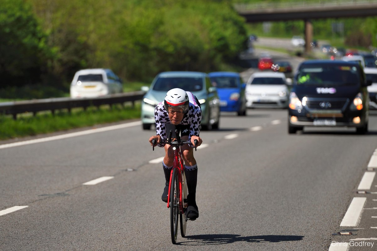 Ian To in action on the way from Exeter to Bristol. Picture: @PLejog