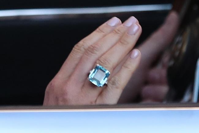 Close up of the ring worn by the newly married Duchess of Sussex (Steve  Parsons