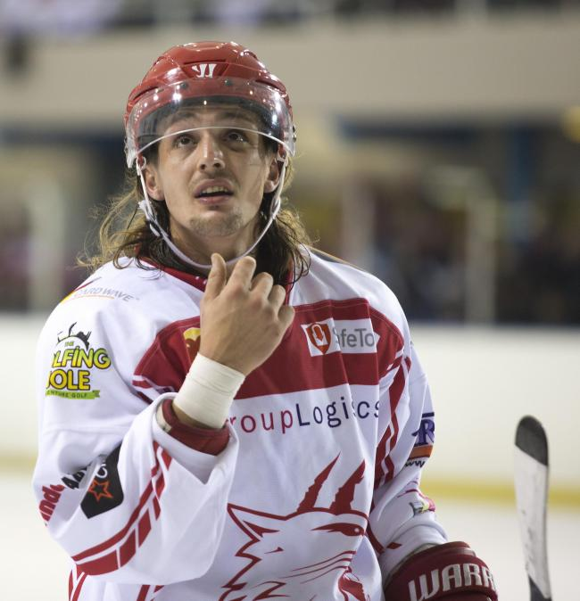 Swindon Wildcats Vs Basingstoke Final second leg, Sam Godfrey in action, Picture Ryan Ainscow 16.03.18.