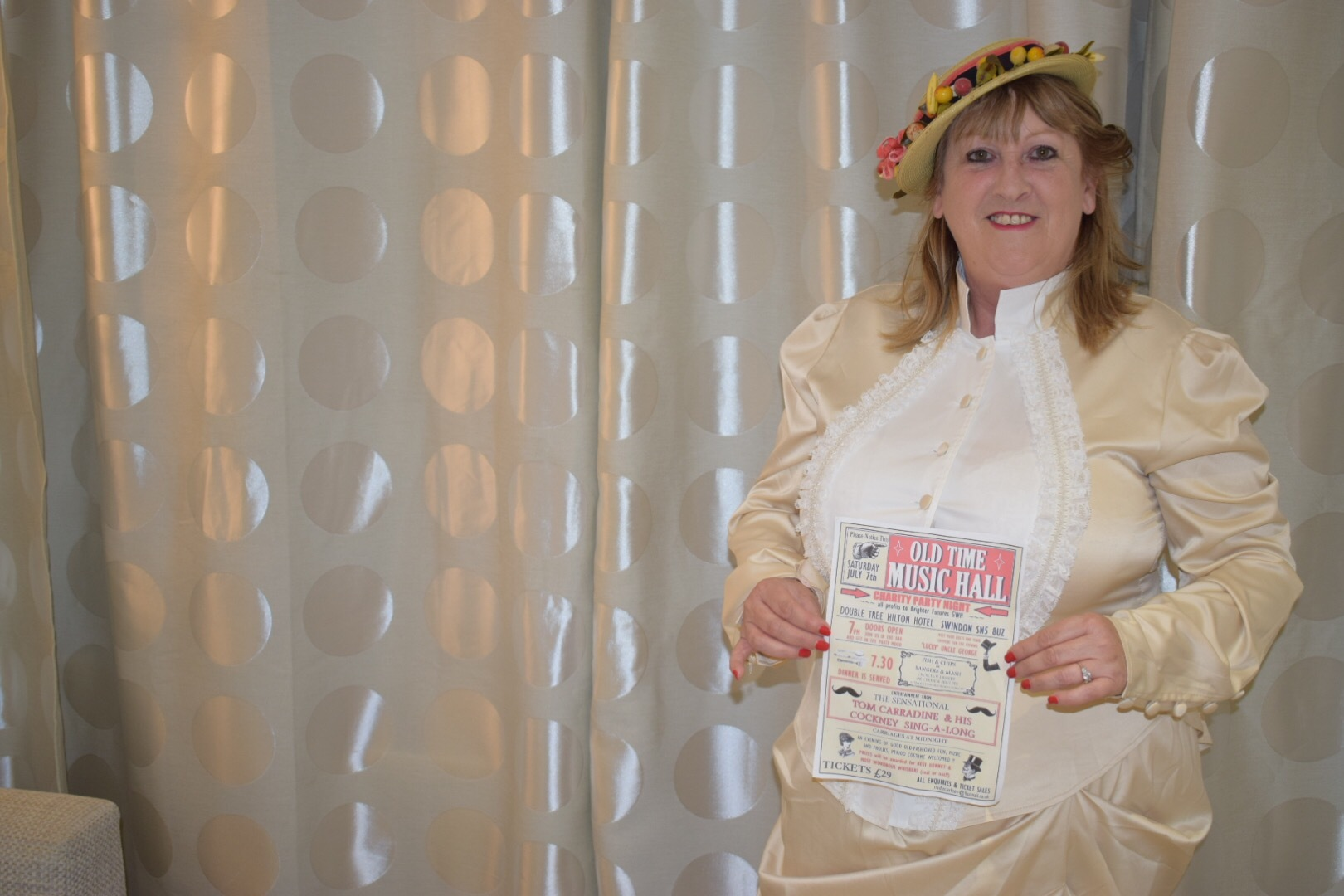 Event organiser Trudie Clarkson in period dress