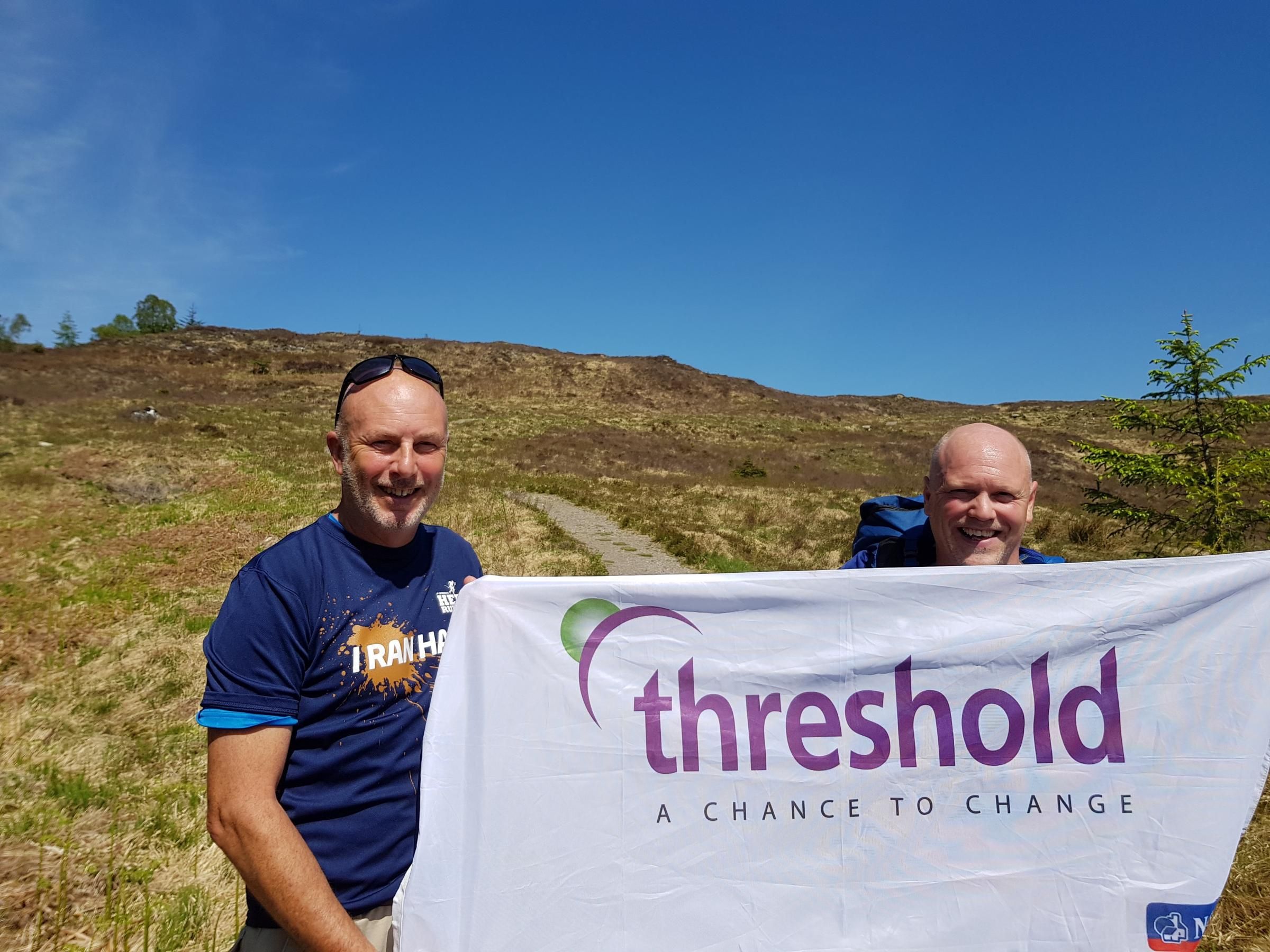 Cliff Boddy and Gary Hillerby hike through the Scottish Highlands for Threshold.