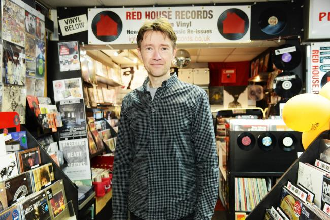 Paul Holmes has seen vinyl sales grow constantly in the five years since he set up Red House Records