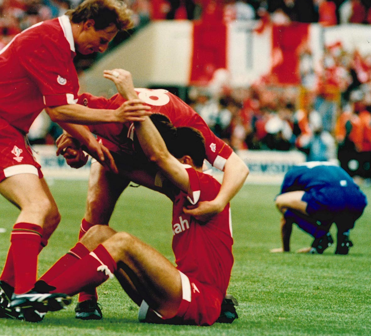 Martin Ling, Paul Bodin and Steve White. Swindon Town 4 Leicester City 3, First Division play-off final, Wembley, May 31, 1993