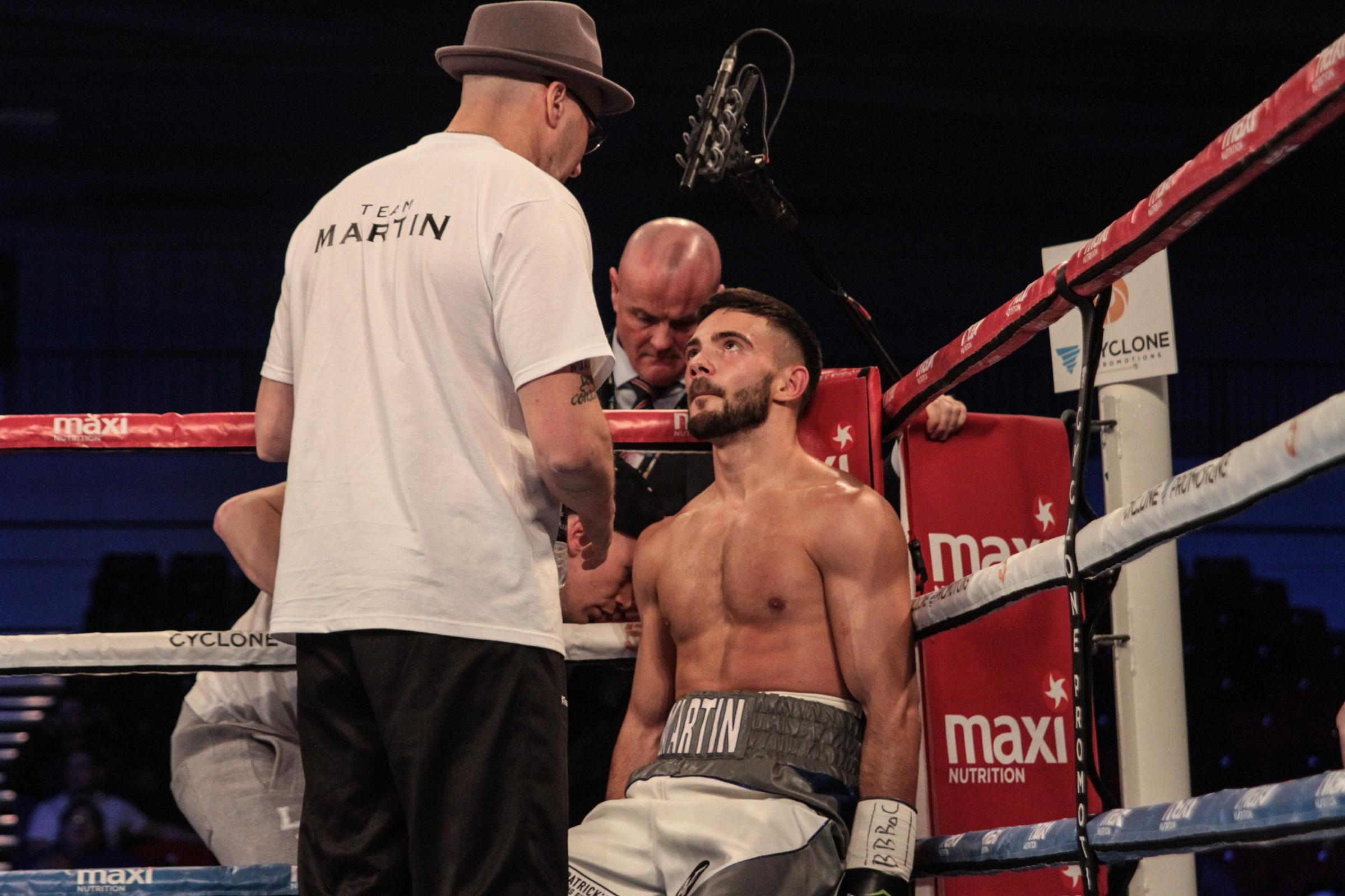 Ryan Martin, pictured during last year's 'All Or Nothing' show at the Leicester Arena, will top the bill on Saturday when standing toe-to-toe with Edvinas Puplauskas.