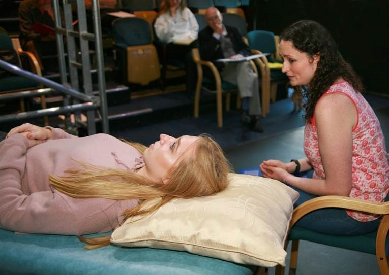 Laura Bartle as Zara and Sophie Wilson as Layee in Annie L Cooper's Broken Wing..