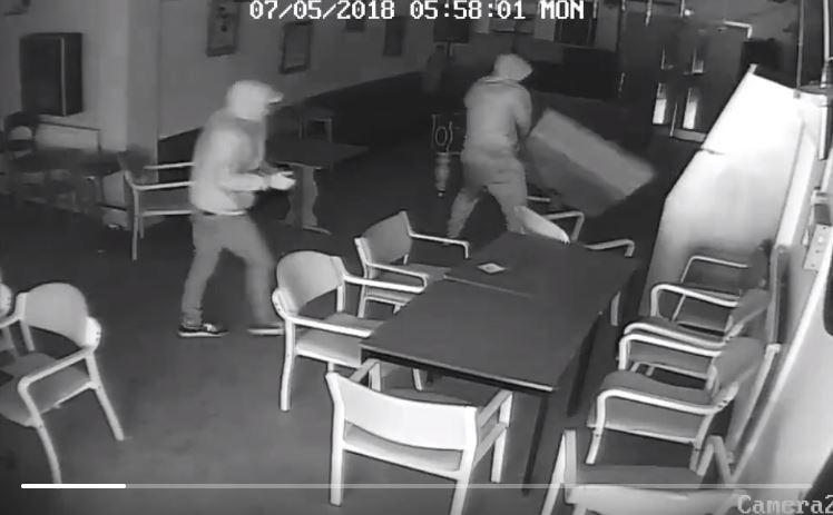 Police have released this CCTV following a break in at the Polish Centre