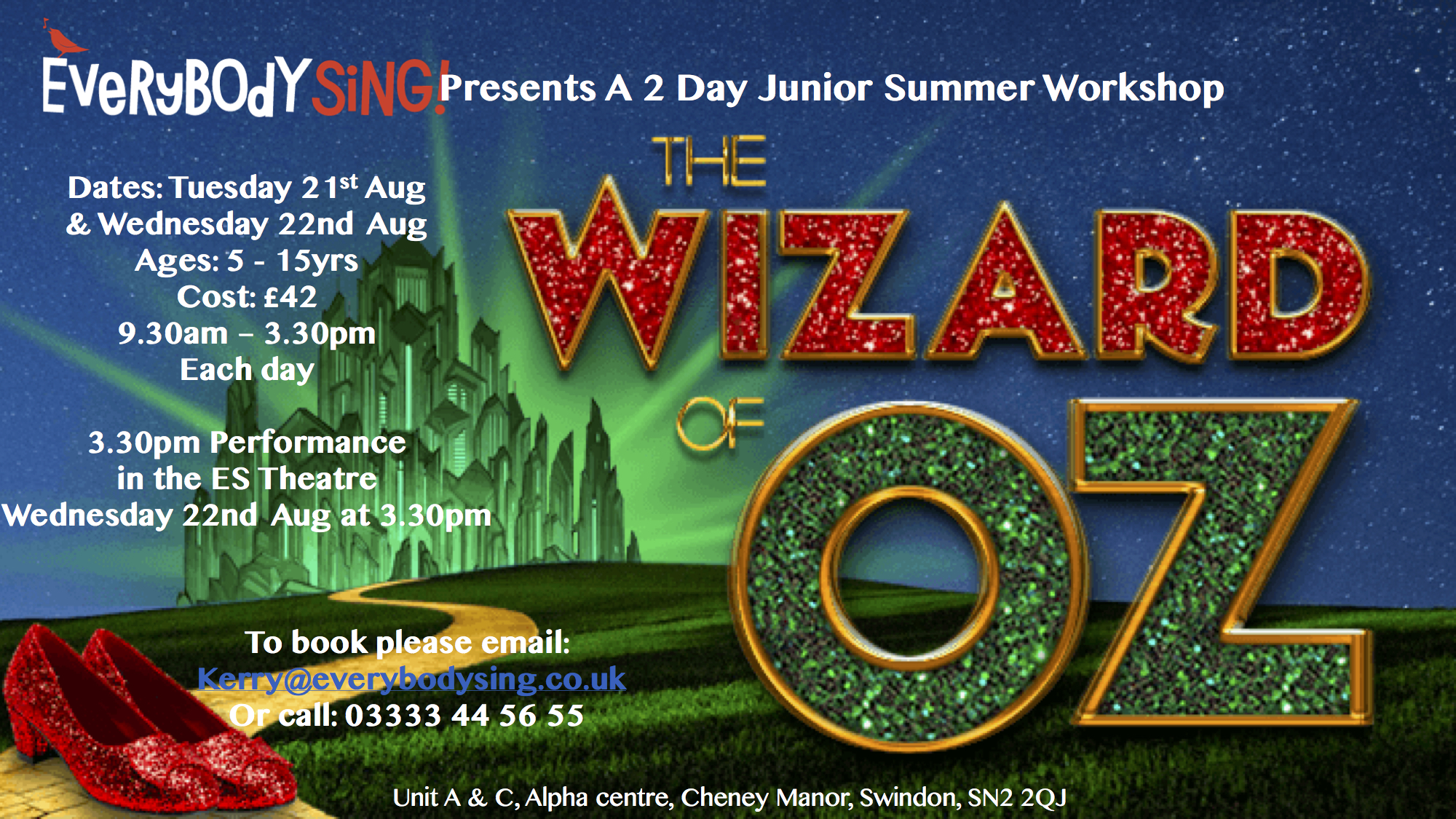 Everybody Sing Wizard of Oz Musical Theatre Workshop
