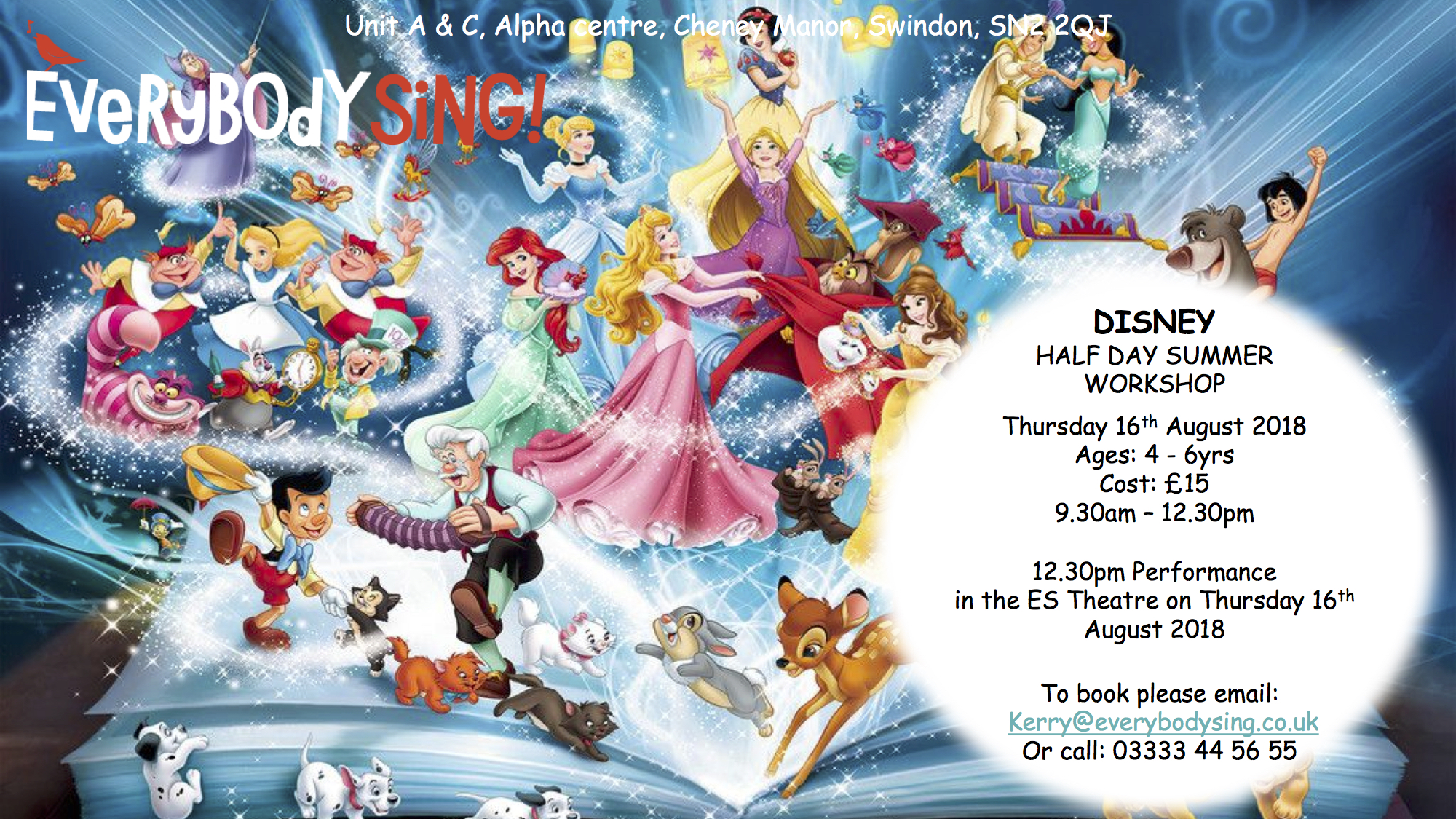 Everybody Sing Disney Themed Musical Theatre Workshop