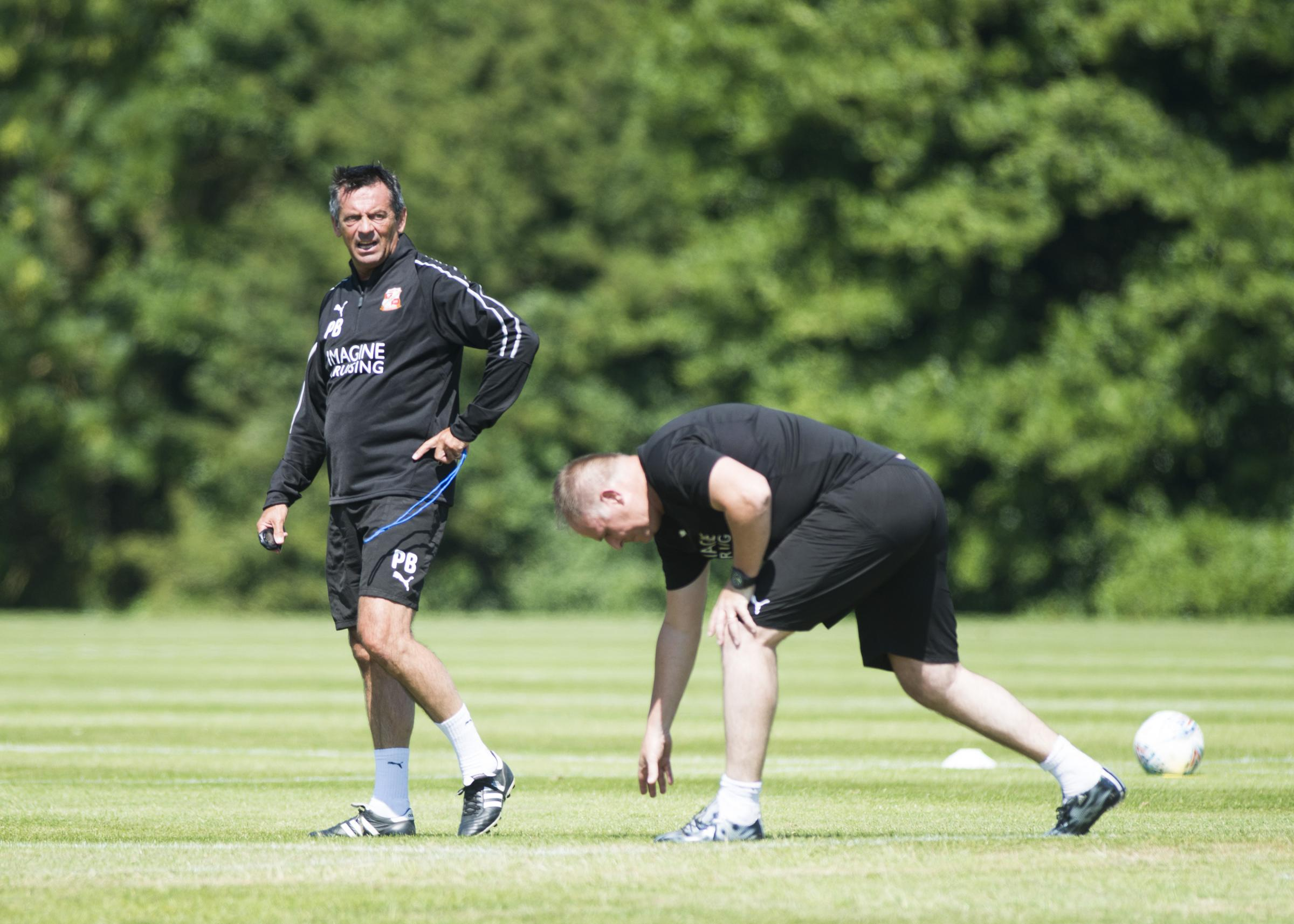 Swindon Town Pre Season Training at Calne Beversbrook. Pictured Phil Brown..27/06/18 Thomas Kelsey.