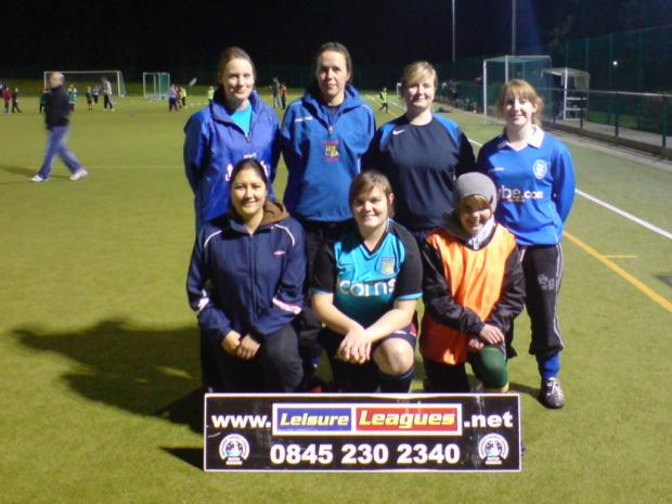 'Goals Aloud' – one of the first all-female teams to take part in Leisure Leagues
