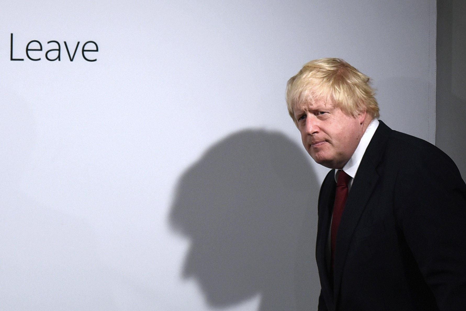 Boris Johnson holds a press conference at Brexit HQ in Westminster, London, after David Cameron has announced he will quit as Prime Minister by October following a humiliating defeat in the referendum which ended with a vote for Britain to leave the Europ