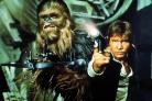 Chewbacca and HanSolo, played by Harrison Ford