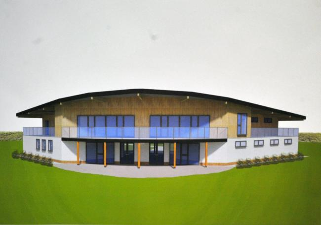 An architect's impression of the new pavilion at the County Ground.