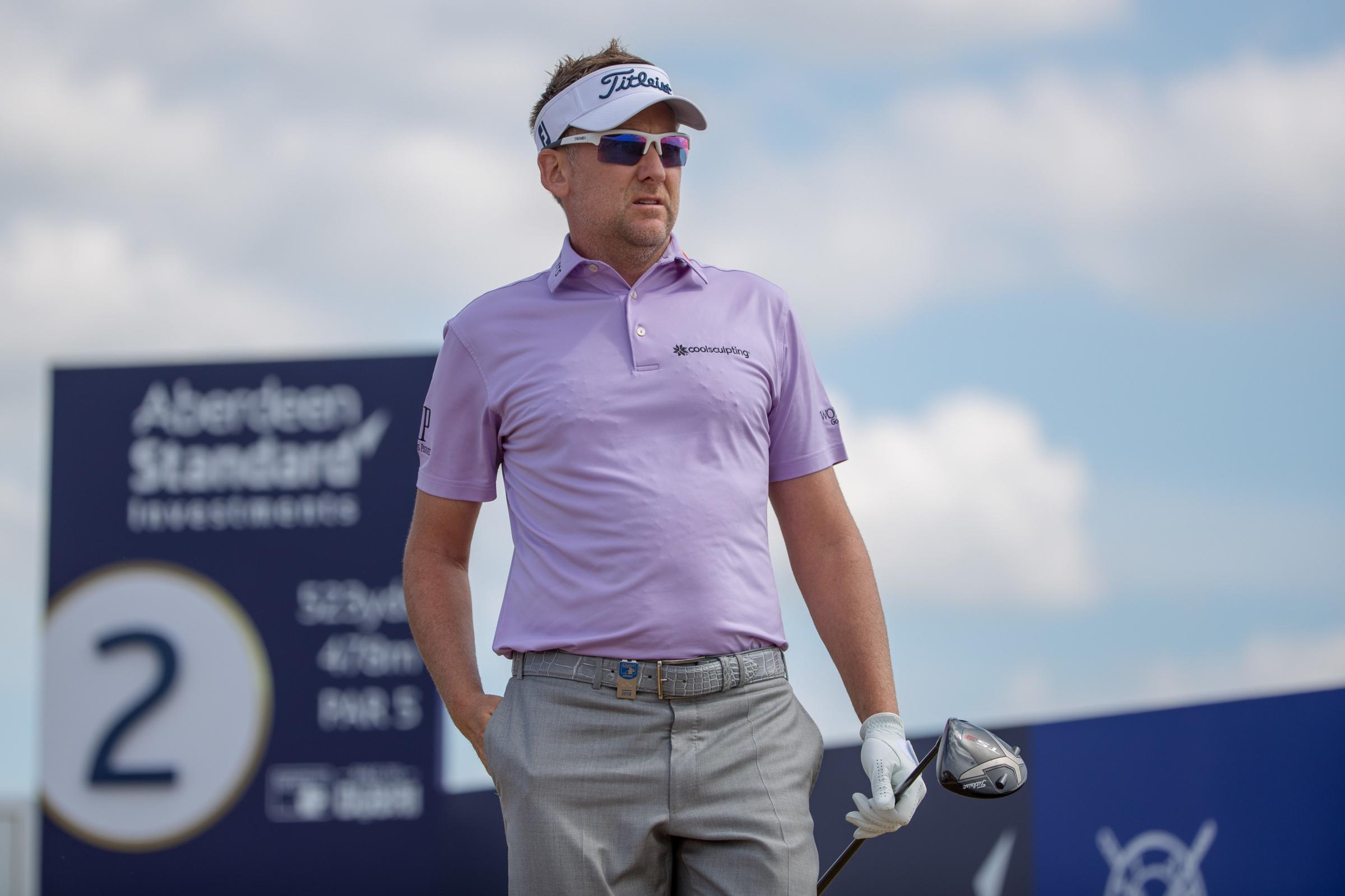 Ian Poulter tees off at the 2nd hole during day three of the Aberdeen Standard Investment Scottish Open at Gullane Golf Club, East Lothian. PRESS ASSOCIATION Photo. Picture date: Saturday July 14, 2018. See PA story GOLF Scottish. Photo credit should read