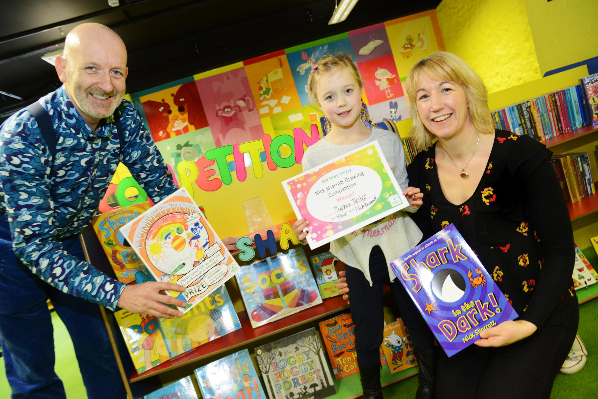 Illustrator Nick Sharratt visited the Old Town library earlier this year. Picture: THOMAS KELSEY